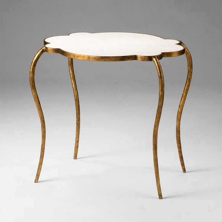 Slightly modern, slighty French, this #occasional table with its marble top is appealing. Petal Marble Top Side Table