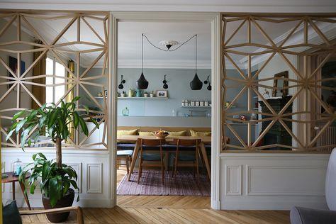 Beautiful room separator thingies. Il y a du claustra dans l'air… | Julie Nabucet Architectures