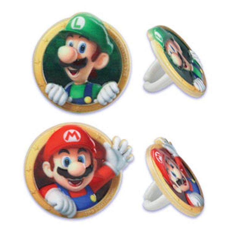 Cupcake Favor Rings - Super Mario (24)