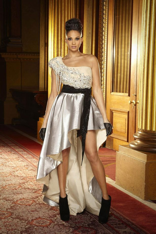 Alesha Dixon wore a metallic mullet gown for the new BGT shoot