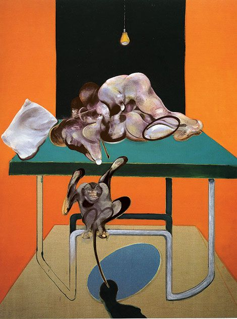 'Two Figures with a Monkey' (1973) by Francis Bacon