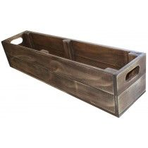 Crate style window planta box for herbs.