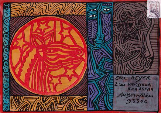 Michel Julliard, Eric Meyer, Art postal, mail art, figuration libre, couleurs, magie
