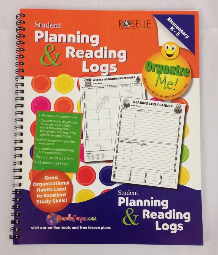 Roselle Student Planning Reading Logs 52 Week Assignment Planner Organizer, New…