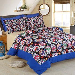 3D Skull Halloween Bedding Set Skull Home Textile Bedspread Queen Size Bed Duvet Cover set Luxury King Bedding Sets Bed Sheet (32753306611)  SEE MORE  #SuperDeals