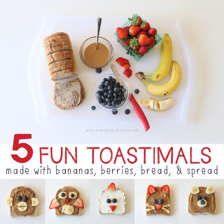 5 Fun Toastimals {made with bananas, berries, bread, and spread} ‹ Mama. Papa. Bubba.Mama. Papa. Bubba.