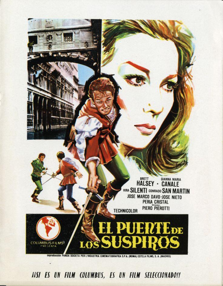 """""""El puente de los suspiros"""", Piero Pierotti, Carlo Campogalliani, 1964. Con Brett Halsey, Gianna Maria Canale, Burt Nelson..."""