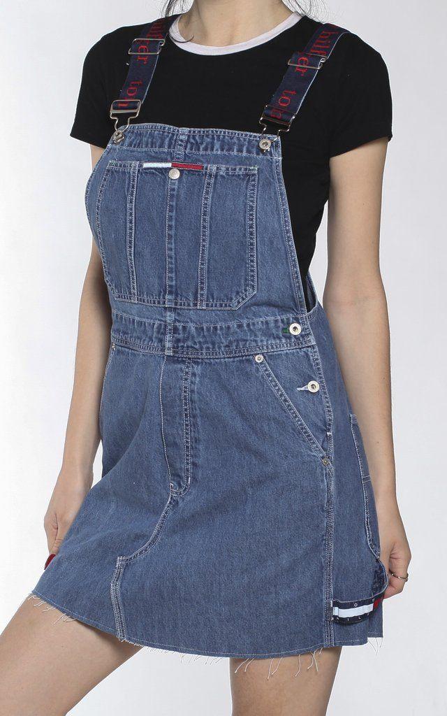 c50e292c7 Vintage Tommy Hilfiger Denim Skirt Overalls | CAPSULAS CREATIVAS.2 ...
