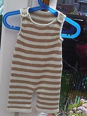 Ravelry: Stripey Baby Dungarees pattern by Becky Smith