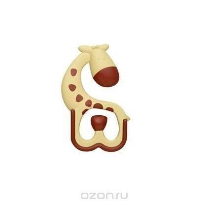 """Прорезыватель Ridgees """"Жирафик"""", массирующий  — 493р. ---------- Прорезыватель Ridgees """"Жирафик"""", изготовленный из прочного безопасного материала в виде жирафика, несомненно понравится малышу. Прорезыватель достигает всех частей ротовой полости, включая коренные зубы. Шероховатая поверхность облегчает неприятные ощущения воспаленных десен в период прорезывания зубов у ребенка. Твердая краевая поверхность массирует десны, тогда как мягкая способствует снятию боли при сдавливании…"""