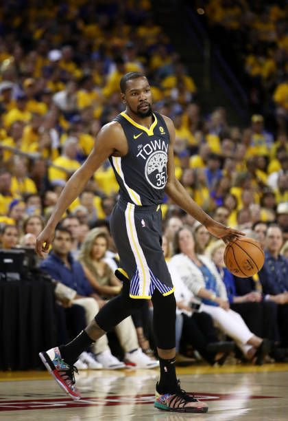08fe61f04 Kevin Durant of the Golden State Warriors reacts against the Cleveland  Cavaliers in Game 2 of the 2018 NBA Finals at ORACLE Arena on June 3 2018 in .