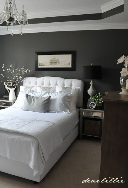 Black lamp shades. Dark BedroomsCharcoal Grey BedroomsGuest BedroomsMaster  BedroomsCarmel CornKendall ...