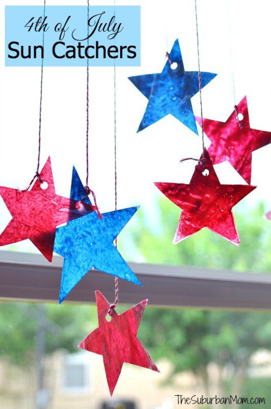 4th of July Sun Catchers Kids Craft