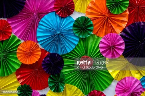 Stock Photo : Colorful paper wall #1