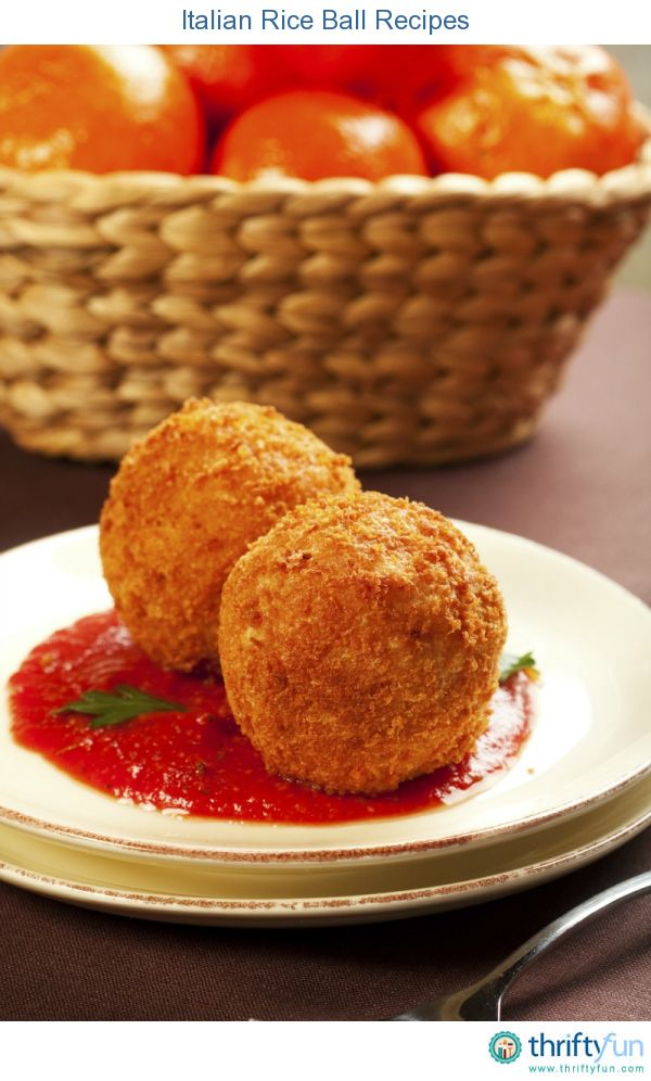 This page contains Italian rice ball recipes. A tasty finger food that is great for parties or to bring to potlucks.