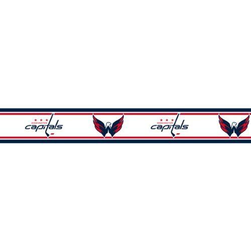 NHL Washington Capitals - Boys Hockey Decor Wallpaper Border Roll by Trademarx. $19.98. Pattern: NHL Washington Capitals. Genuine licensed merchandise. Prepasted, so you can setup your room in minutes! Washable, Scrubable, Strippable/ Peelable. One wall border pack. Width: 5.5 inches (13.97 cm). Length: 5 yards (4.57 meters/15 feet).