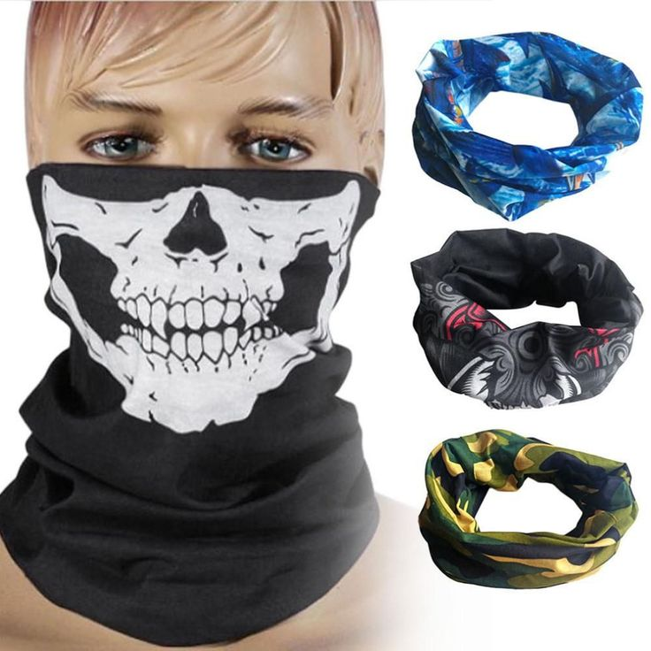 Skull Mask Skeleton Ghost Tactical Motorcycle Scarf. FREE SHIPPING