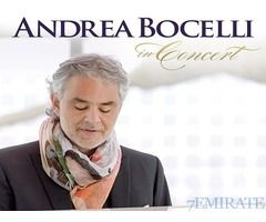 Andrea Bocelli Concert Tickets for Sale in Abu Dhabi