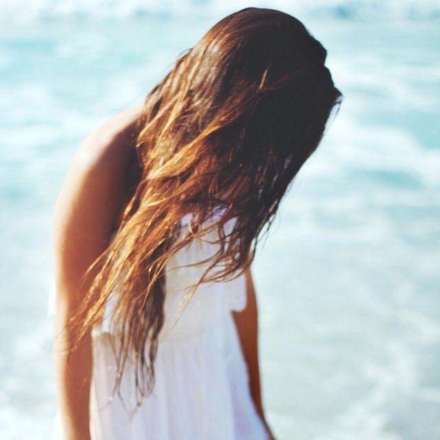 Cheveux Longs Mouillés