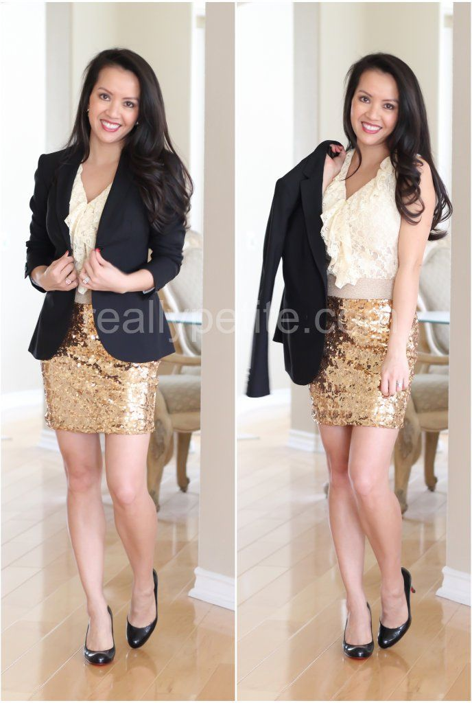 Gold dress outfit ideas