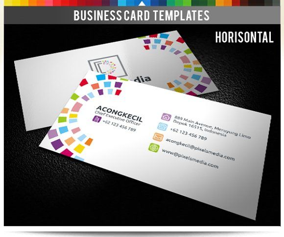 Premium Business Card - Pixels Media Templates **Premium Business Card – Pixels Media ** **Discription** : Sided Business Card Front and Rear by Acongraphic