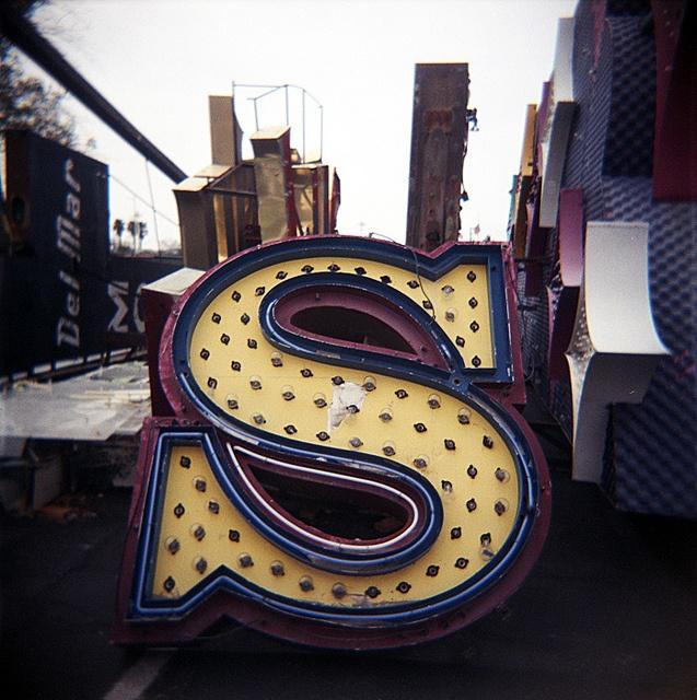 SSSSS: Neon Initials, Letters Ꮥ Neon, Ꮥ Neon Boneyard, Neon Signage