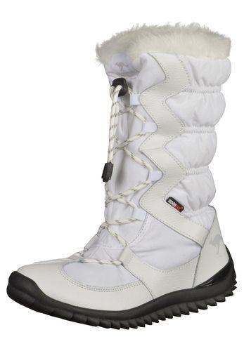 #KangaROOS #Damen #Stiefel #weiß Trendiger Winterstiefel von KangaROOS mit tollen Effekten und herausnehmbarer Innensohle. Das Warmfutter (100% Polyester) sorgt bei Kälte für angenehm warme Füße. Der Schuh ist mit der RoosTex-Membrane ausgestattet und ist dadurch wasserdicht, aber trotzdem atmungsaktiv.