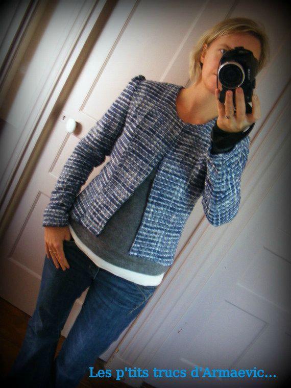 patron couture veste chanel