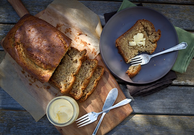 Super Moist Banana Bread   ,made with coconut oil