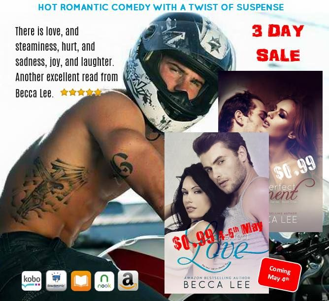☆☆ HOT 99c/p New Release☆☆ + GIVEAWAY!!! Warning: Sexy Aussies on the loose. Book crush imminent, laughter likely and soggy kindles from screen licks guaranteed.  A Perfect Love by Becca Lee Author is LIVE!! #APerfectLove #99c/p #Sale on all platforms ➟ Amazon US: http://amzn.com/B00WPVSNFQ ➟ Amazon UK: http://www.amazon.co.uk/dp/B00WPVSNFQ ➟ Amazon AU: http://www.amazon.com.au/dp/B00WPVSNFQ GIVEAWAY : http://www.rafflecopter.com/rafl/display/ea80a6ed65
