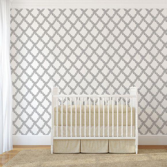 Papier peint petits motifs blanc Gilda - Sandberg - Au fil des Couleurs