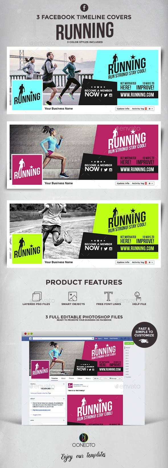 Running Facebook Timeline Covers Template PSD. Download here: http://graphicriver.net/item/facebook-timeline-covers-running/14578583?ref=ksioks