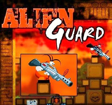 Alien Guard - Play Alien Guard game online. ( protect, Defender, rifle, enemies, aliens, action game, funny, space games, fast-paced, shooter, base, best shooting games ).