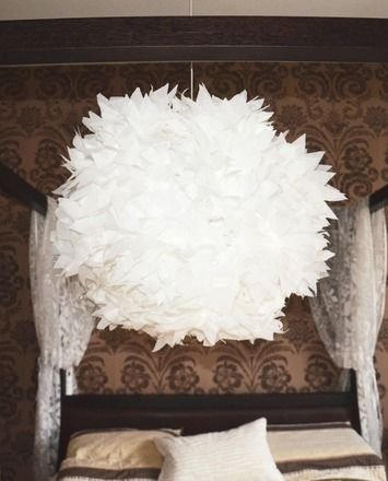 luminaire boule suspendu en flammes de papier blanches luminaires par milwaukee house life. Black Bedroom Furniture Sets. Home Design Ideas