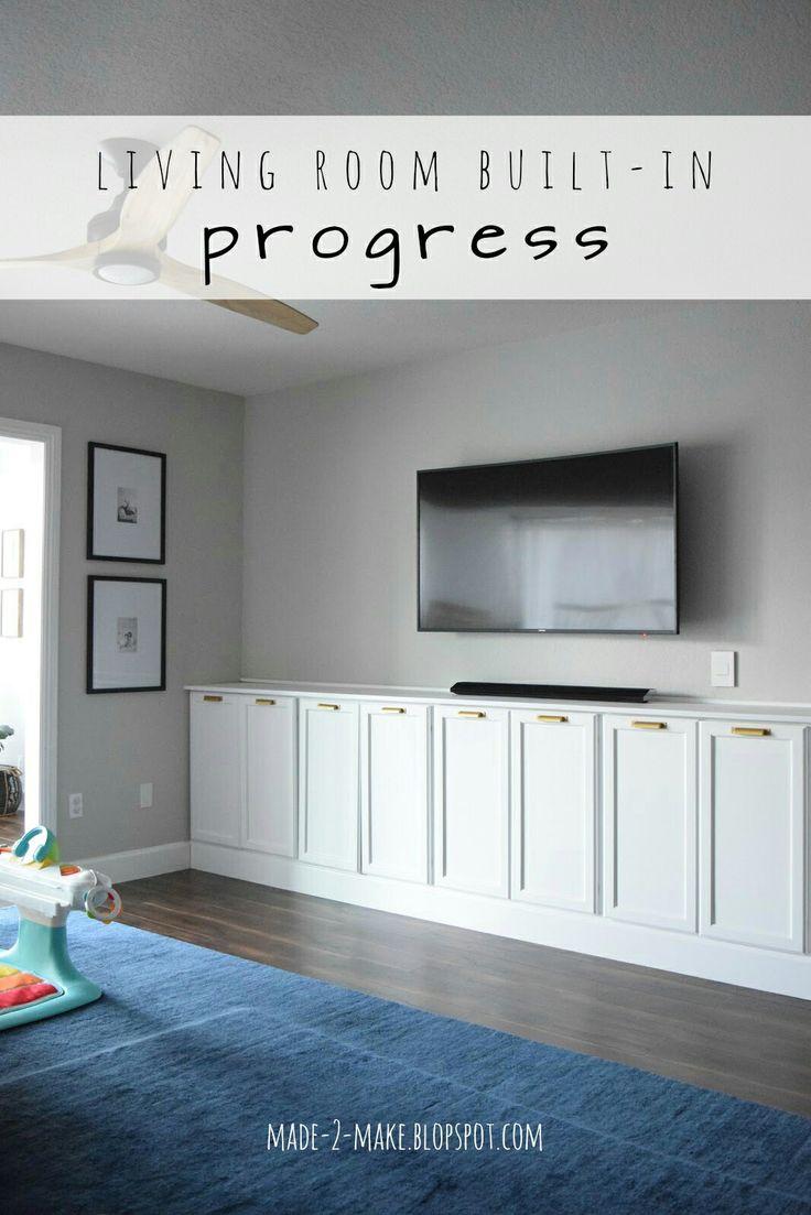 Made2Make Blog   Our Living Room Built-in Progress