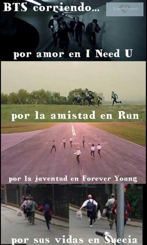 Resultado de imagen para meme bts they run in forever young for young