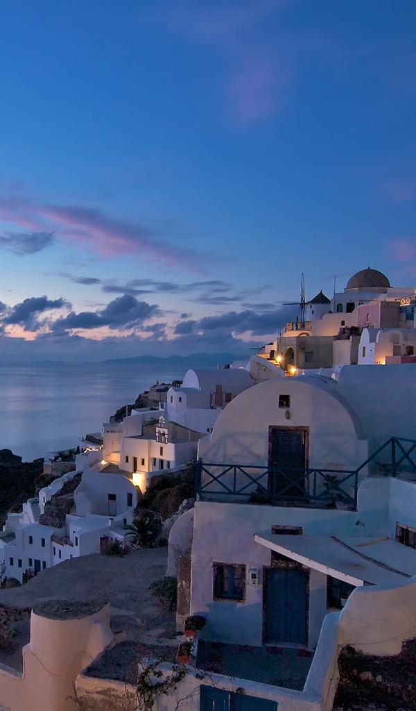 Evening in Oia, Santorini, Greece