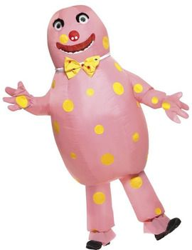 The ever popular Mr Blobby Inflatable Costume Includes inflatable costume with gloves.