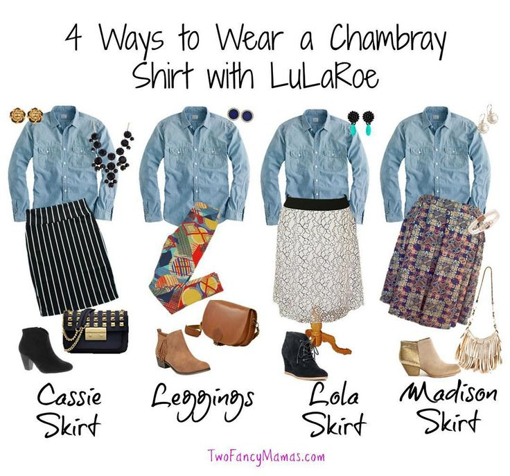 If you are a fan of LuLaRoe, a chambray shirt is a must! It goes well with many pieces!