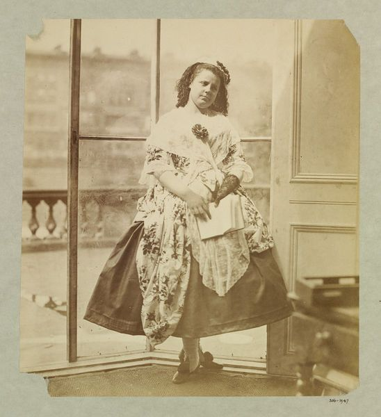 1863-64 photographic study by Clementina, Lady Hawarden, of her daughter in fancy dress as an 18th-century shepherdess. V&A Museum.