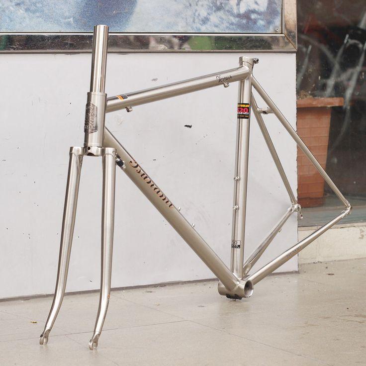TSUNAMI Reynolds 520 CR-MO Steel Road Bike Frame 700C Classic Frameset Silver | eBay