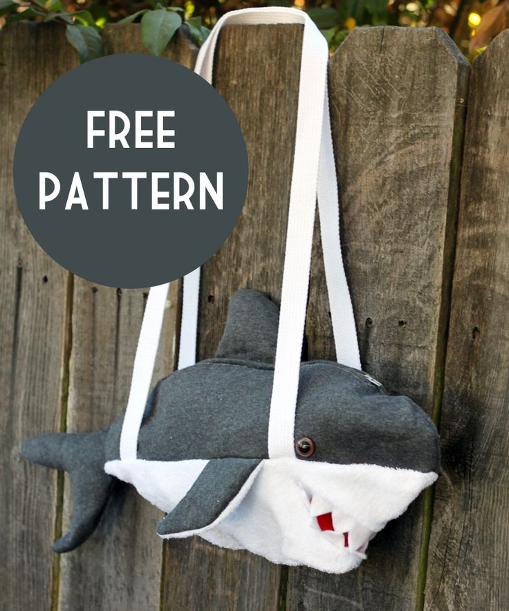Free Shark Bag Pattern!