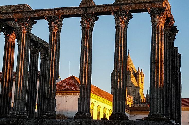 Evora - UNESCO Welterbe -Römischer Tempel  ... #evora #rotadopeixe #visitalentejo #aptece #madomistours #twoportugal