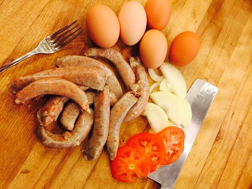 Hot Country Breakfast Sausage from our peanut finished Gloucestershire Old Spots (GOS) pigs!