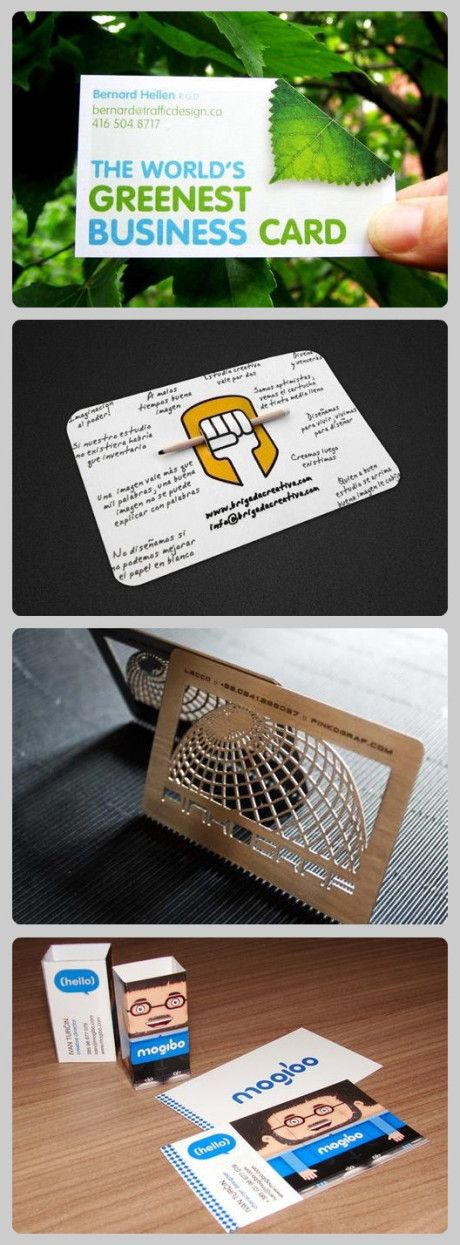 4 creative business cards