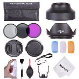 Neewer 52MM Professional Accessory Kit for NIKON D7100 D7000 D5200 D5100 D5000 D3300 D3200 D3100 D3000 D90 D80 DSLR Cameras Includes Filter Kit UV CPL FLD  Carrying Pouch  Lens Hoods Tulip and Collapsible  Flash Diffuser Set  Lens Caps Center Pinch and Snap On  Cap Keeper Leash  Deluxe Cleaning Kit  Microfiber Cleaning Cloth *** Check out this great product.