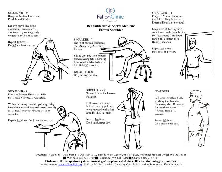 Shoulder Bursitis Physical Therapy Exercises   Rehabilitation Sports Medicine Frozen Shoulder
