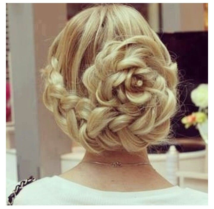 Elegant flower braid updo | Beauty ♥ | Pinterest | Elegant