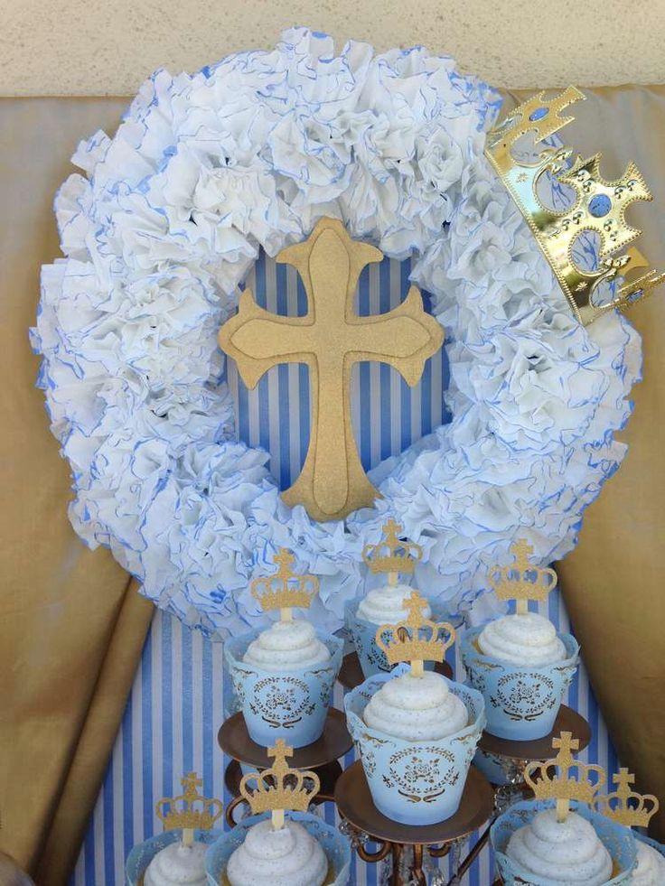 Best 25 boy baptism party ideas on pinterest boy for Baby boy baptism decoration ideas