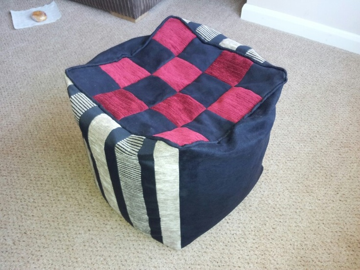 Beanbag made from off cuts of material